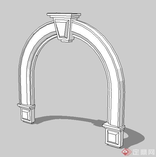 欧式拱形门框