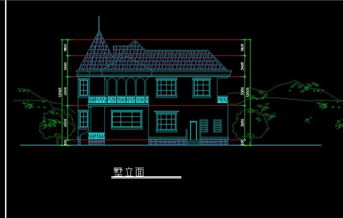 某别墅区建筑设计方案图 含沿街商业
