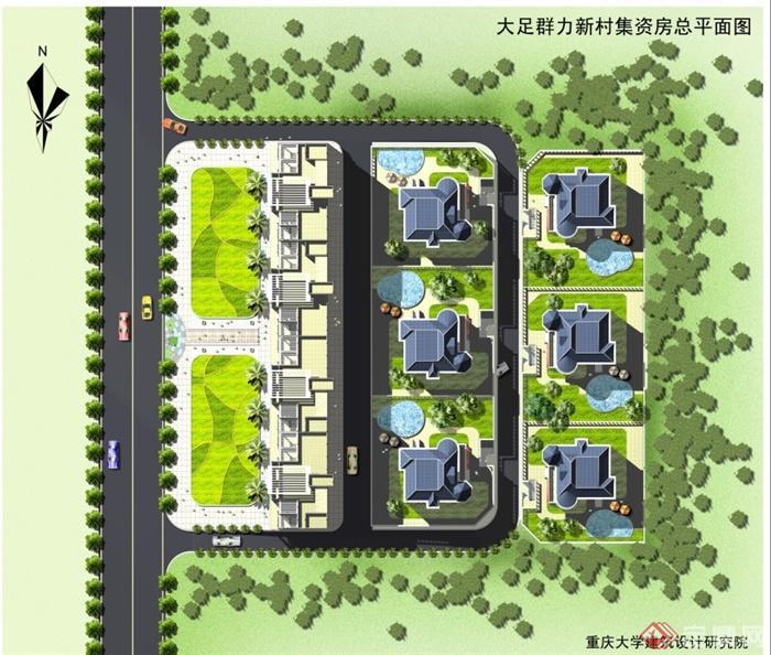 某简欧新农村别墅住宅区建筑设计方案 含效果图