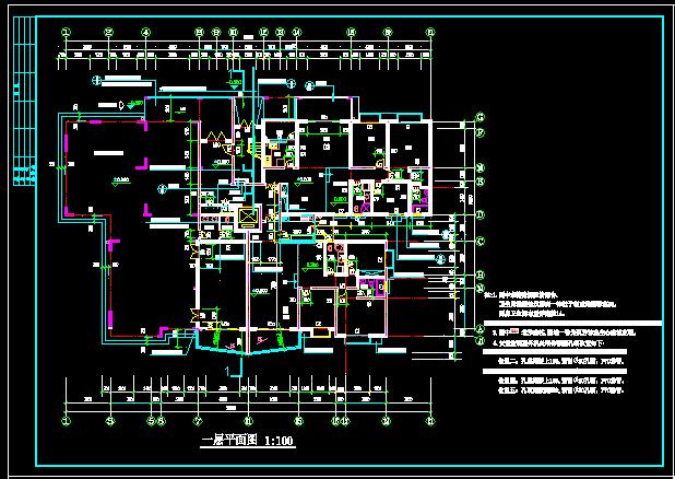 某多层住宅建筑施工图-13层约7100平16张CAD图(2)-某地一高层住