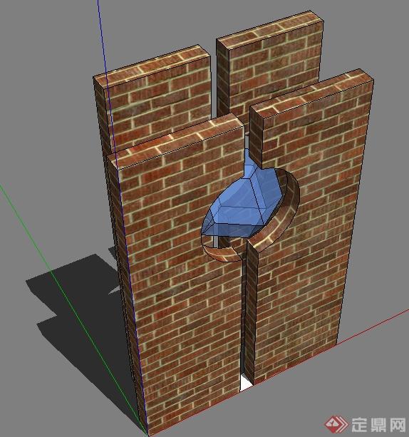 多个景观小品雕塑门框住宅家具陈设SU模型