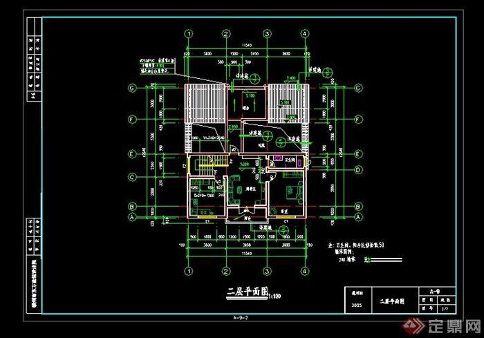 赣州市某新农村建设农民住宅建筑设计cad图纸
