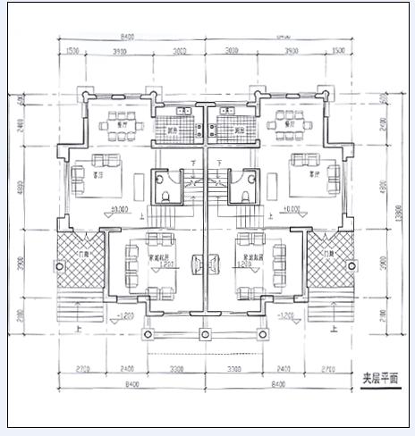 某多套别墅平面图加效果图设计方案