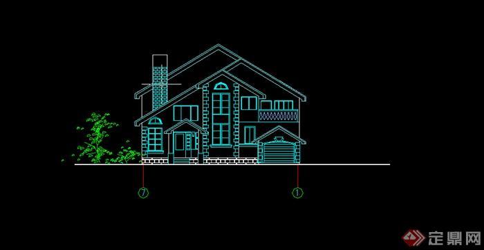 某别墅排屋CAD施工图别墅方案设计