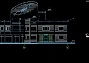 某现代风格管理房建筑设计施工图纸(dwg格式)