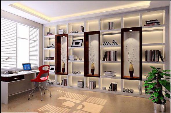 欧式风格小书房