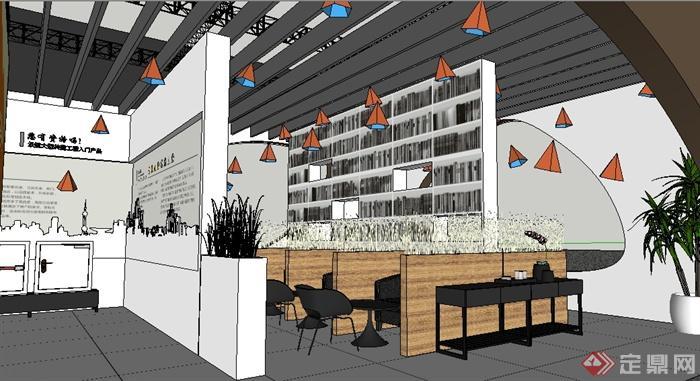 某五金展会展厅设计(效果图、施工图、su模型),模型设计整体