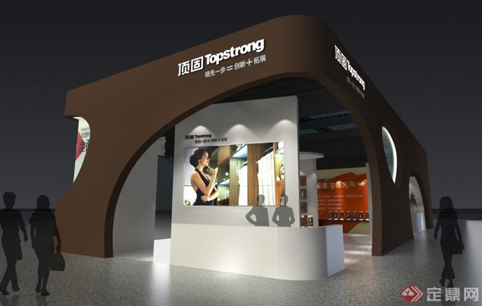 某五金展会展厅设计 效果图 施工图 su模型 2