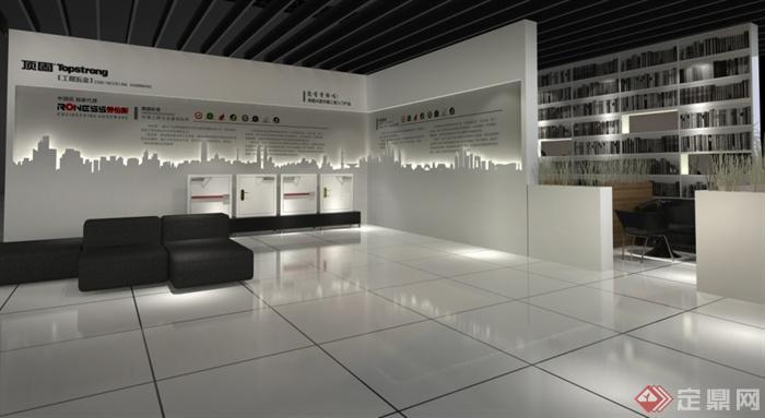 某五金展会展厅设计 效果图 施工图 su模型 4