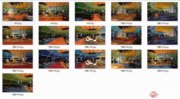 某钢铁健身房装饰设计大全图纸(含CAD+SU+效图纸星工场宾馆迷你全套侠图片