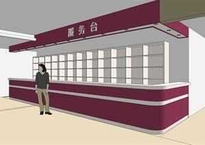 某工装项目商场及超市室内设计(效果图、施工图、SU(草图大师)模型)
