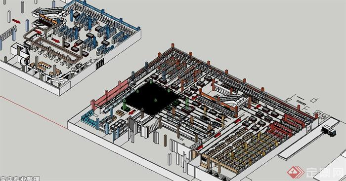 某工装项目商场及超市室内设计(效果图,施工图,su模型)(3)