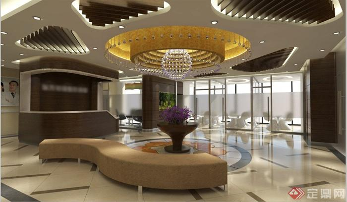 某医院室内装潢设计概念方案(su模型+cad+效果图),该方案有