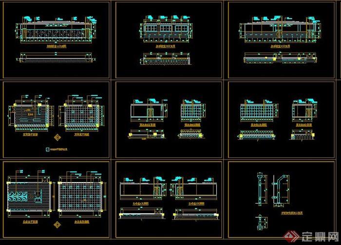 多类花池做法CAD施工图(5)
