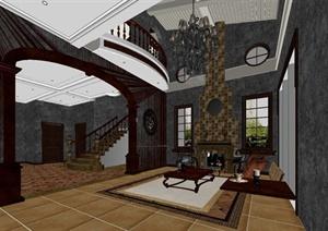 某客厅设计方案3DMAX模型