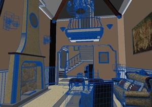 某客厅设计方案3DMAX模型3
