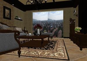 某客厅设计方案3DMAX模型13