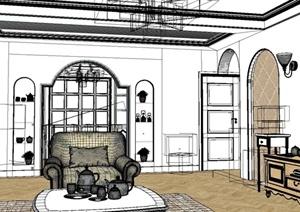 某客厅设计方案3DMAX模型11