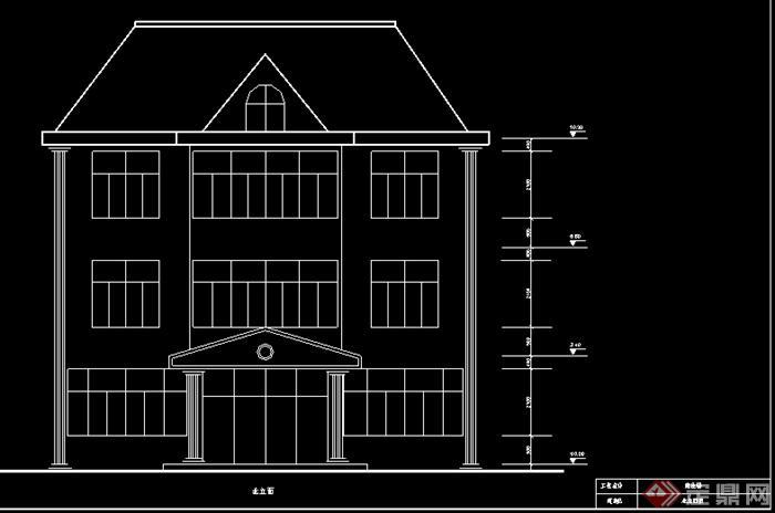 某现代小别墅建筑设计电气施工图纸 含土建图