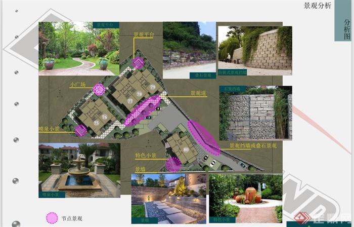 某别墅区景观规划设计方案,内容包含了规划总平面图,道路、