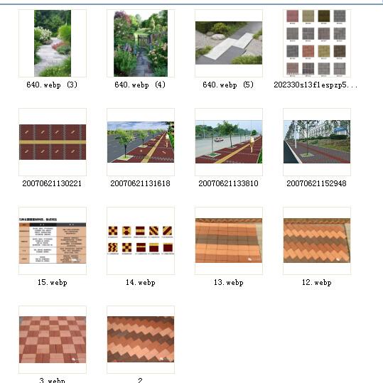 透水砖园路铺装设计实景图