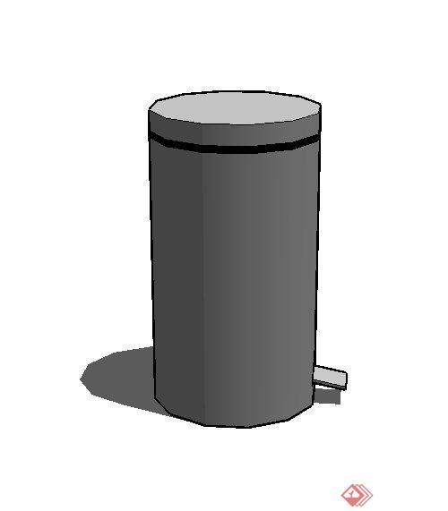 某室内物件垃圾桶设计su模型(2)