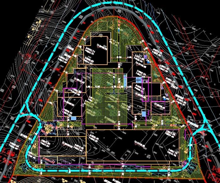 某新中式温泉小镇商业街建筑设计方案