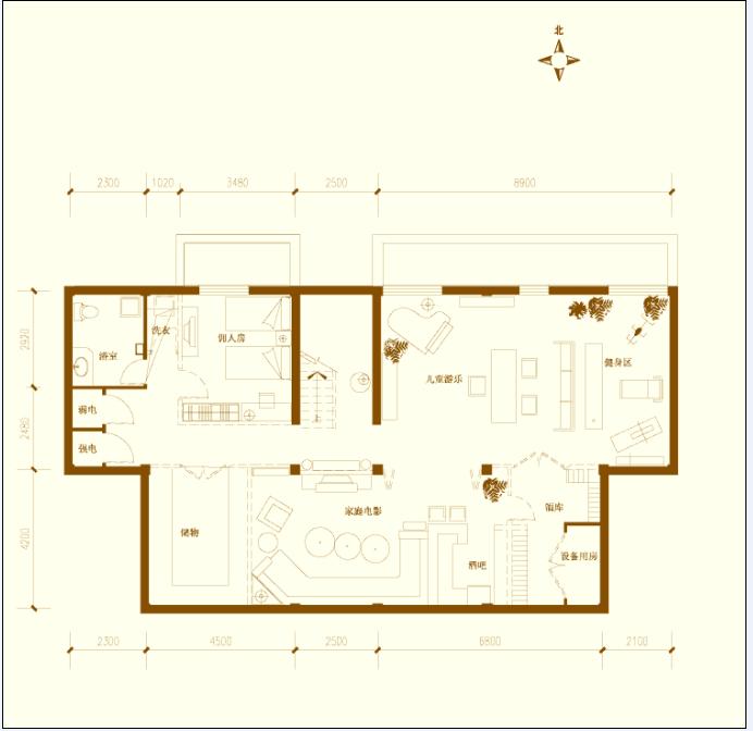 某两层别墅建筑设计户型图(dwg格式)2[原创]