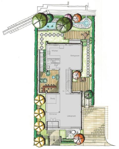 设计图  现代四合院别墅庭院图片 - 四合院别墅 - 装修效果图大全2017