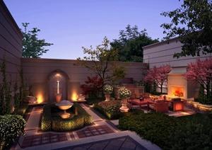 025m800               某欧式庭院花园景观效果图psd格式,方案设计的图片