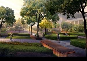 城市公共绿地街头游园园林景观设计方案项目资料下载图片