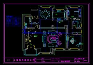 某豪宅水电施工图设计CAD图