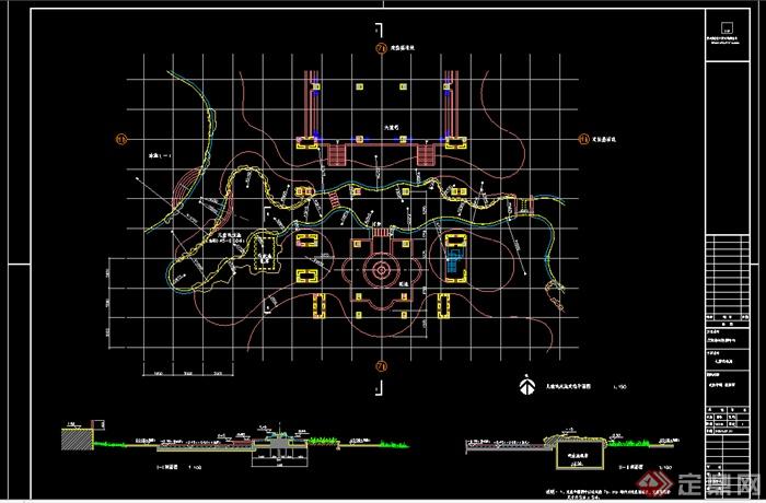 某水池戏水池设计CAD图纸