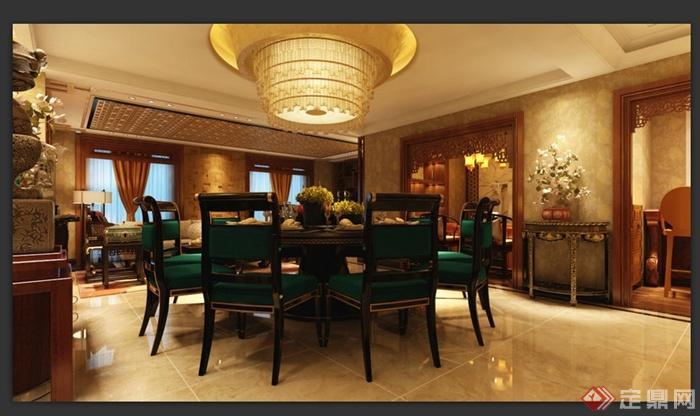 某中式会所卧室室内装饰设计3DMAX模型 含效果图高清图片