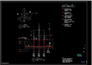 某欧式水景喷泉施工图设计CAD图纸3-水景喷泉园林景观细部图片