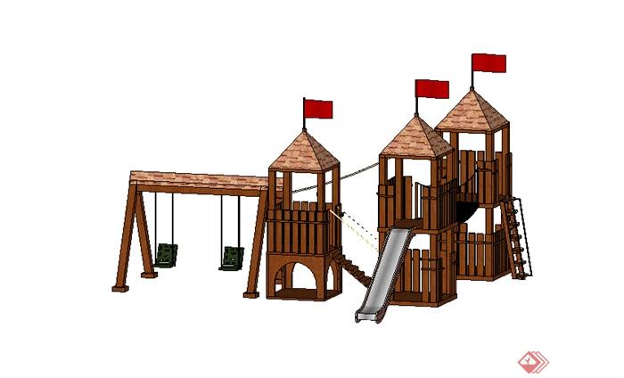 某儿童游乐设施设计su模型素材2