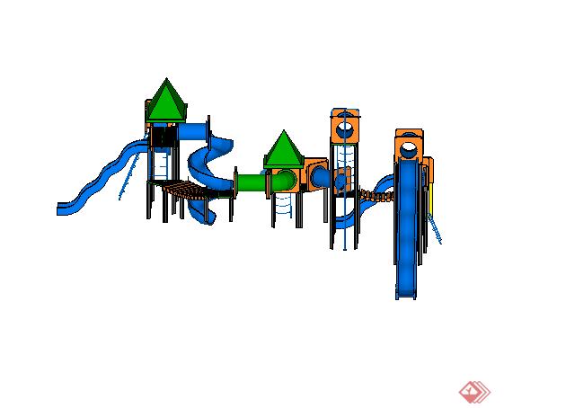 某儿童游乐设施设计su模型素材3
