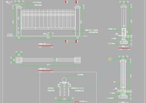 某围墙景观设计施工详图