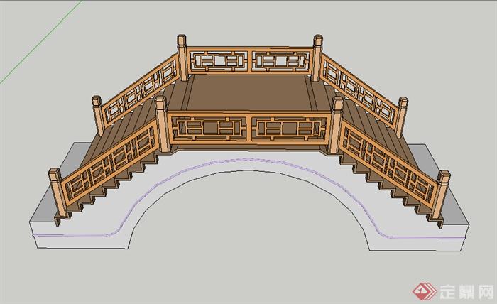 某园林景观园桥设计su模型素材2