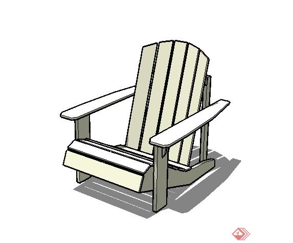 某园林景观户外座椅su模型素材