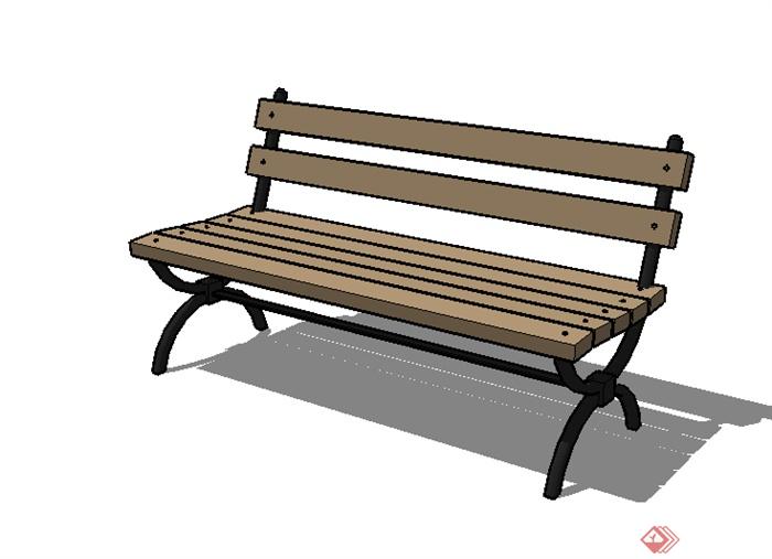 某园林景观室外座椅su模型素材2