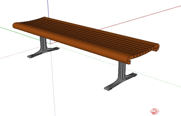 某园林景观室外座椅su模型素材6