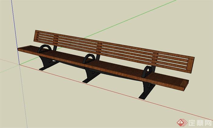 某园林景观室外座椅设计su模型素材3
