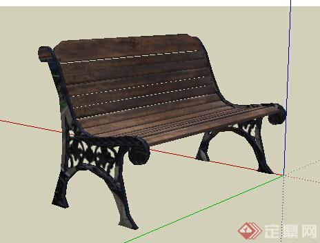 园林景观之现代风格座椅设计su模型25