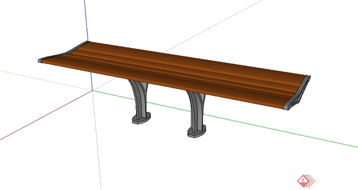 某园林景观室外座椅设计su模型素材12