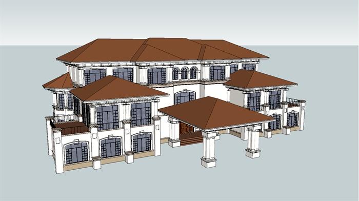 某欧式会所建筑设计su模型1[原创]