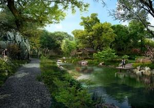某滨水公园景观设计效果图