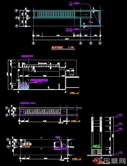 某不锈钢伸缩比例设计施工图纸cada4中心线图纸大门图片