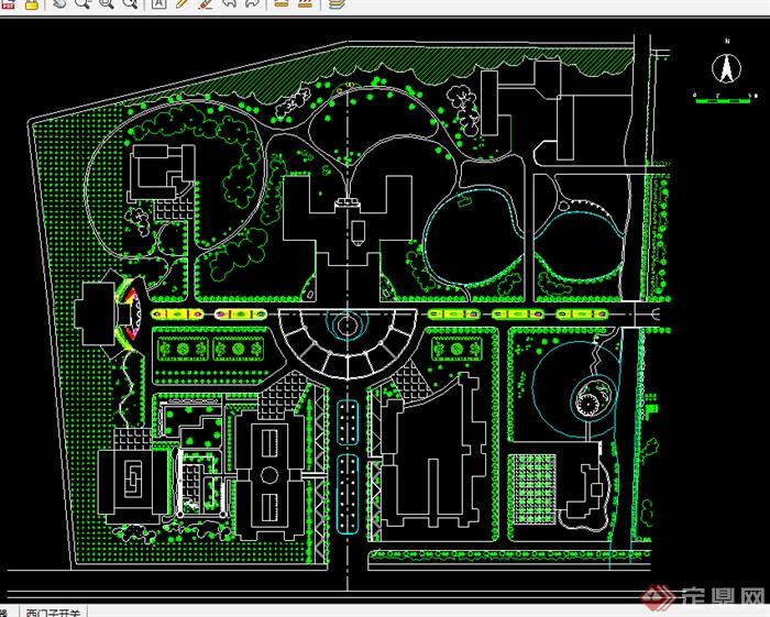 某园林景观广场设计cad图纸参考1 1