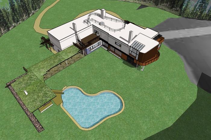 某新藝術風格瑪利亞別墅建筑設計以及室內設計